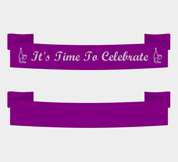 Party Sashes - Pre Printed Sashes-Birthday